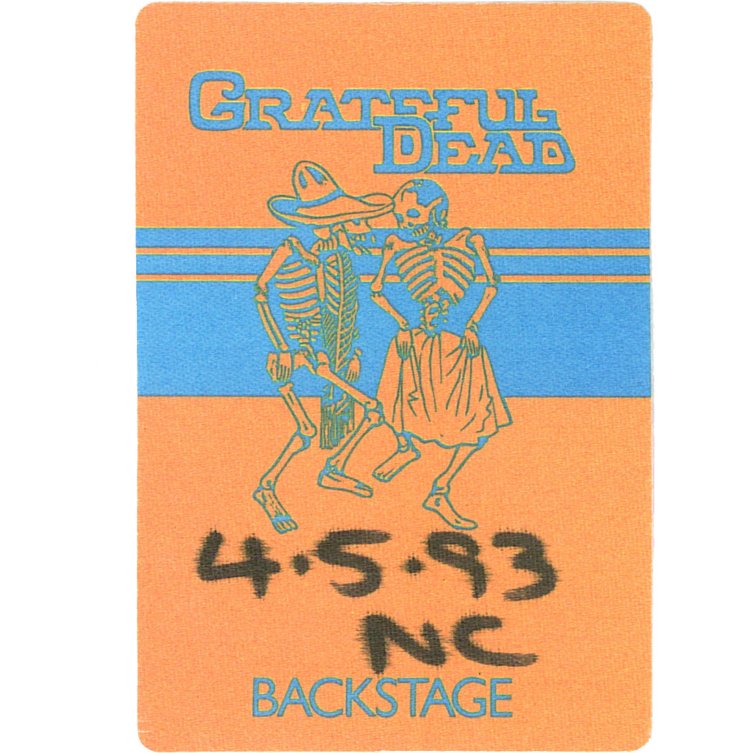 Grateful Dead 1993 04-05 Backstage Pass