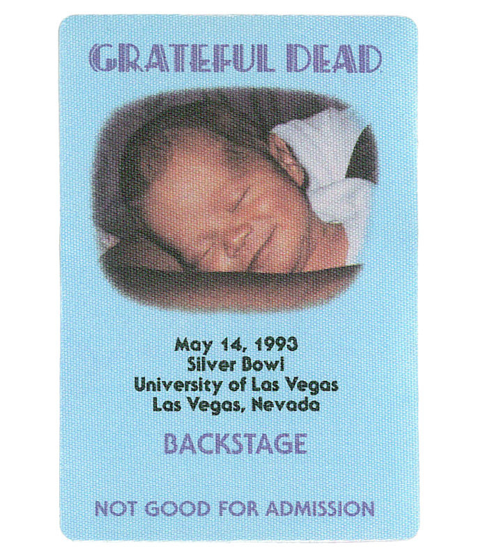 GRATEFUL DEAD 1993 05-14 BACKSTAGE PASS
