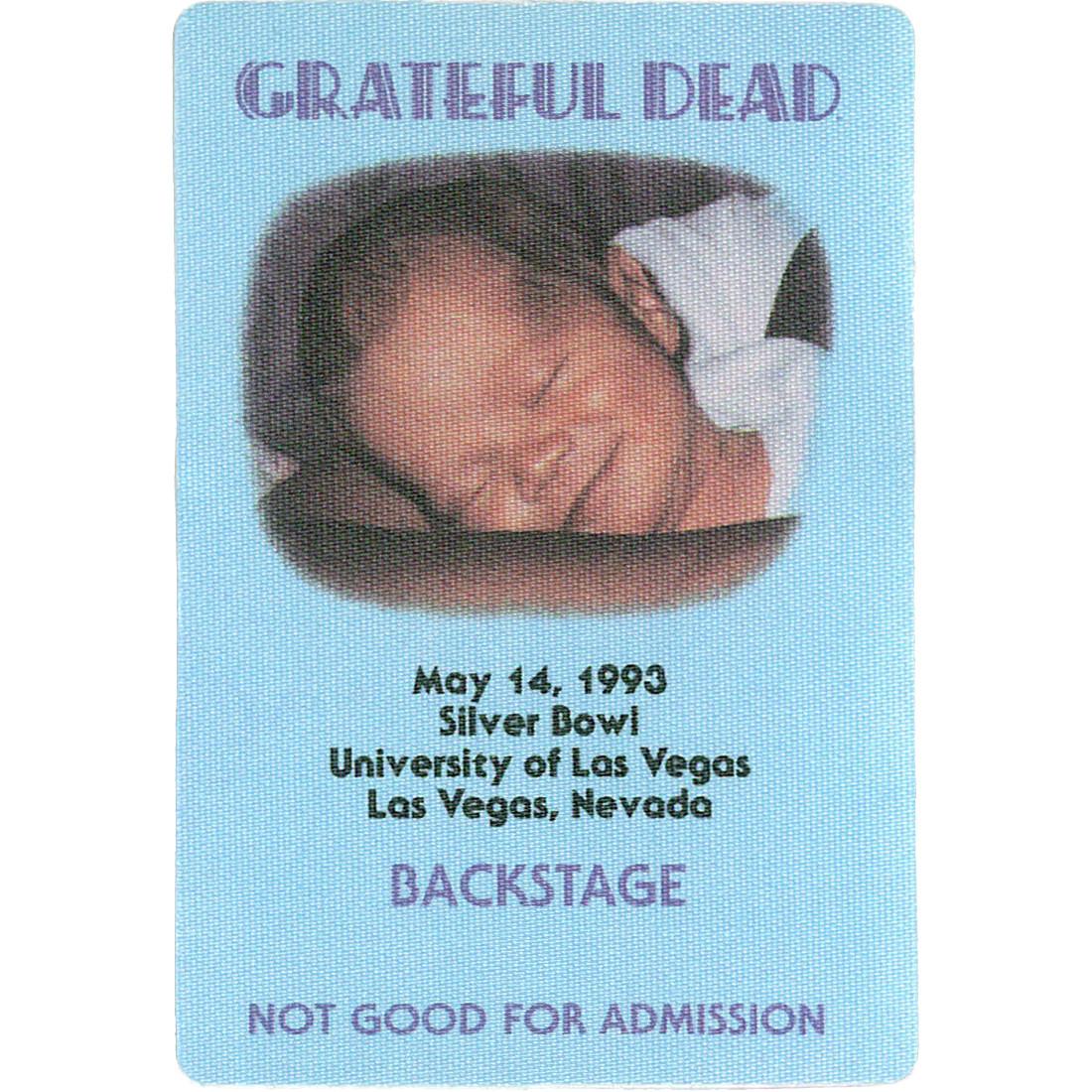 Grateful Dead 1993 05-14 Backstage Pass