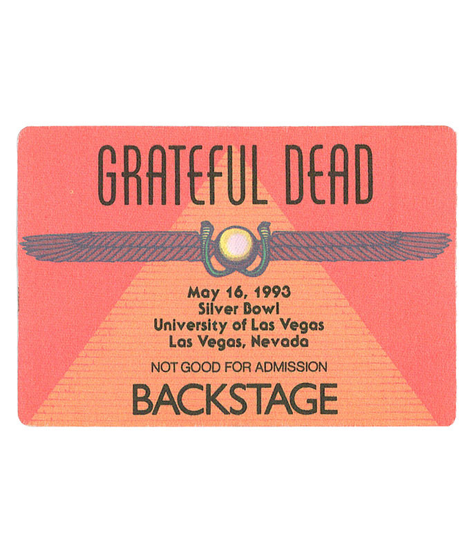 GRATEFUL DEAD 1993 05-16 BACKSTAGE PASS