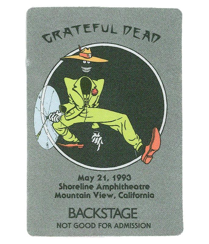Grateful Dead 1993 05-21 Backstage Pass