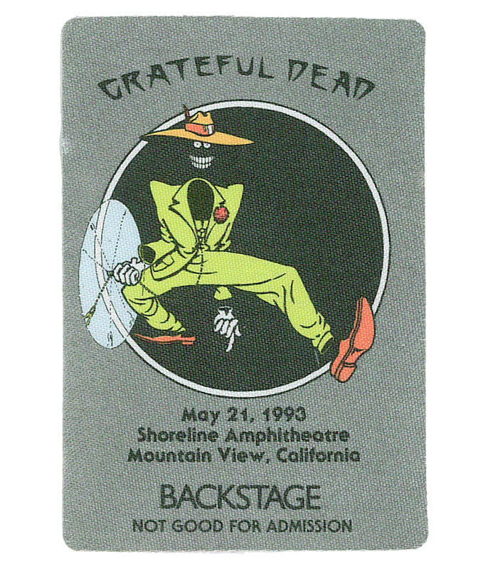 GRATEFUL DEAD 1993 05-21 BACKSTAGE PASS