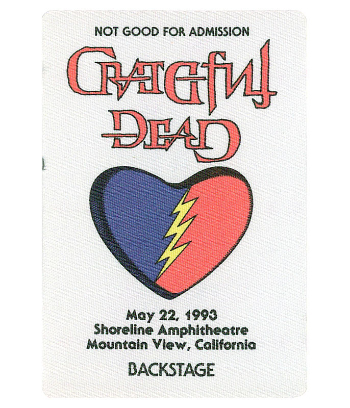 GRATEFUL DEAD 1993 05-22 BACKSTAGE PASS