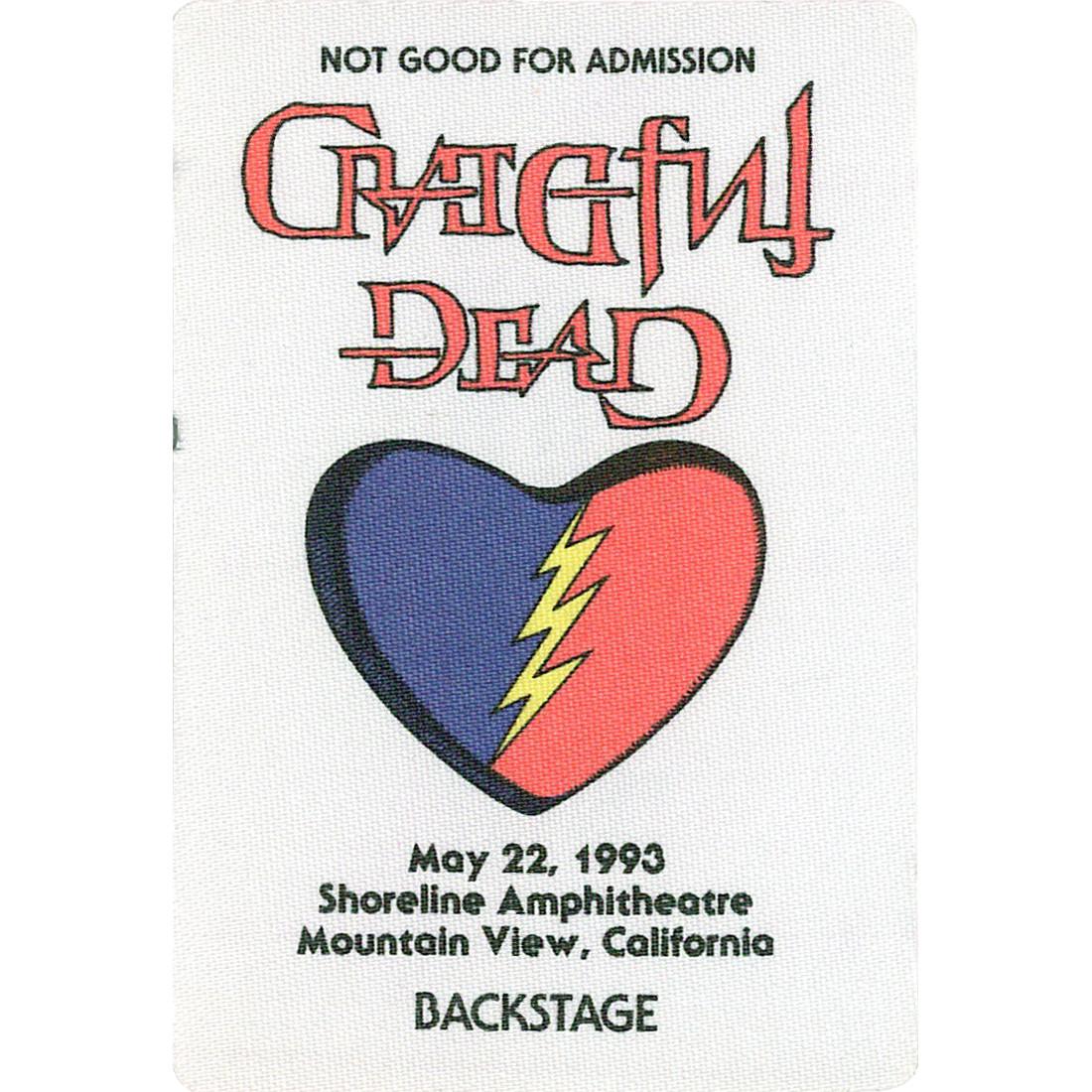 Grateful Dead 1993 05-22 Backstage Pass