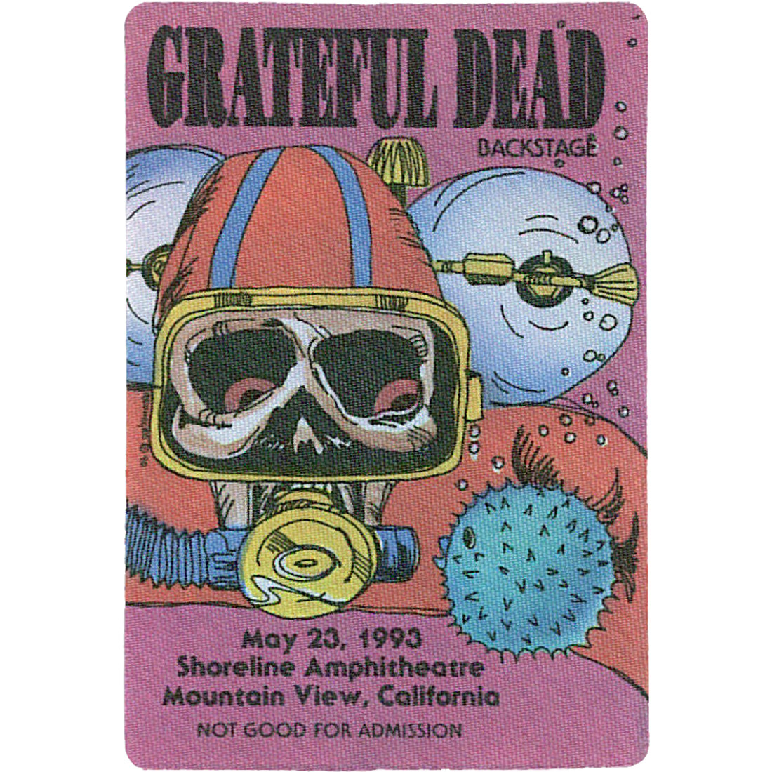 Grateful Dead 1993 05-23 Backstage Pass