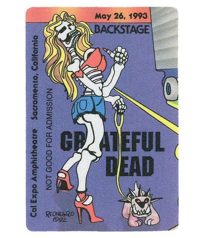 The Vault Grateful Dead 1993 05-26 Backstage Pass Liquid Blue
