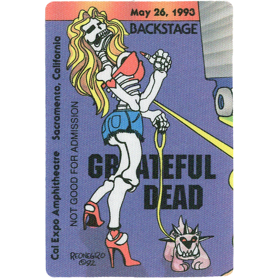 Grateful Dead 1993 05-26 Backstage Pass