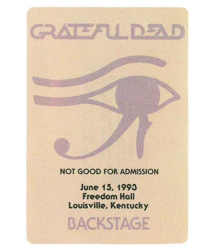 The Vault Grateful Dead 1993 06-15 Backstage Pass Liquid Blue