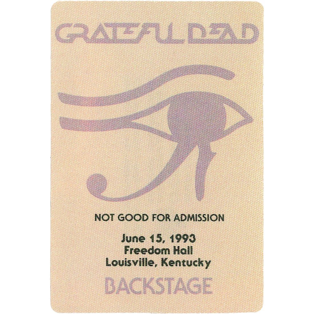 Grateful Dead 1993 06-15 Backstage Pass