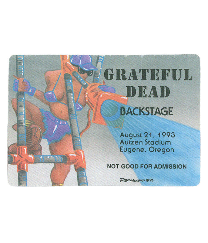 The Vault Grateful Dead 1993 08-21 Backstage Pass Liquid Blue