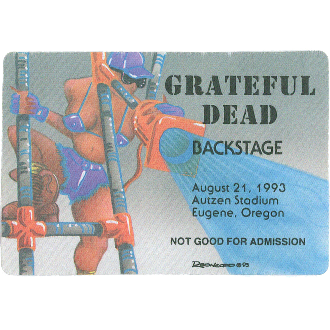 Grateful Dead 1993 08-21 Backstage Pass