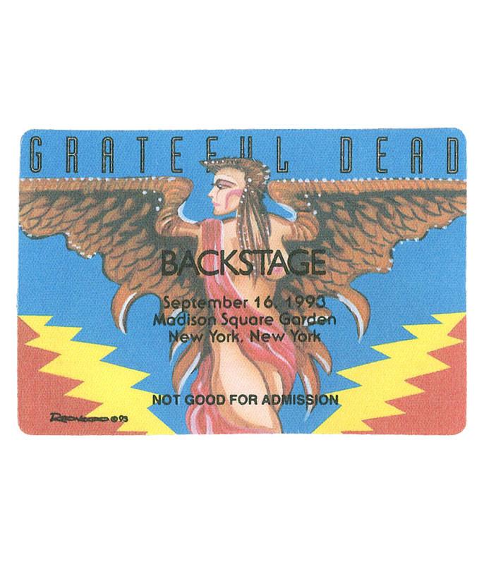 Grateful Dead 1993 09-16 Backstage Pass