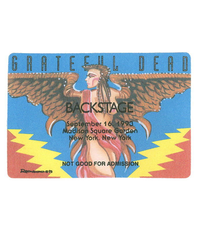The Vault Grateful Dead 1993 09-16 Backstage Pass Liquid Blue