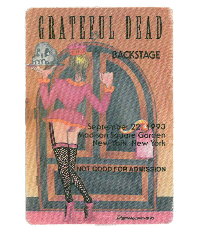 GRATEFUL DEAD 1993 09-22 BACKSTAGE PASS
