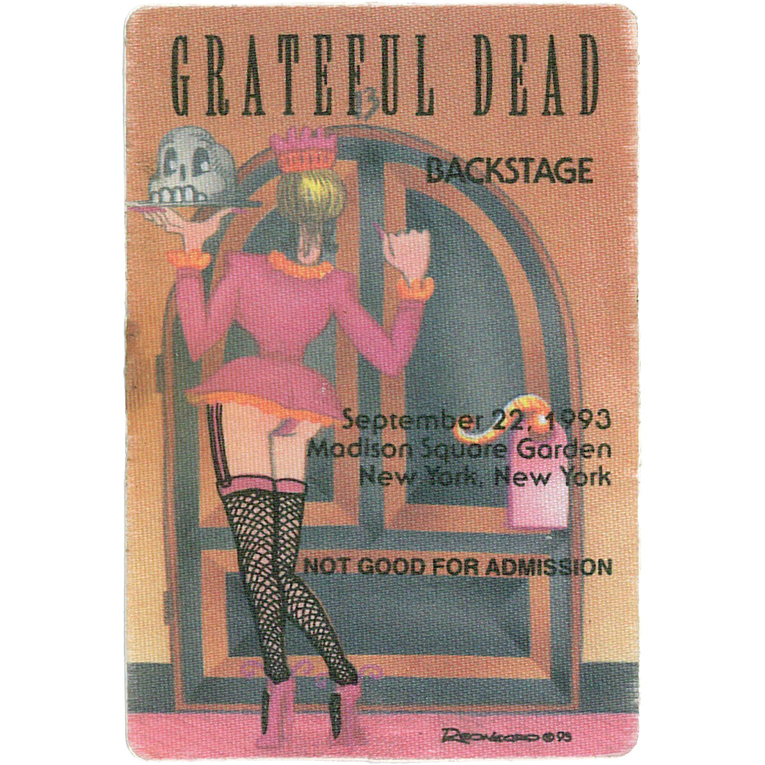 Grateful Dead 1993 09-22 Backstage Pass