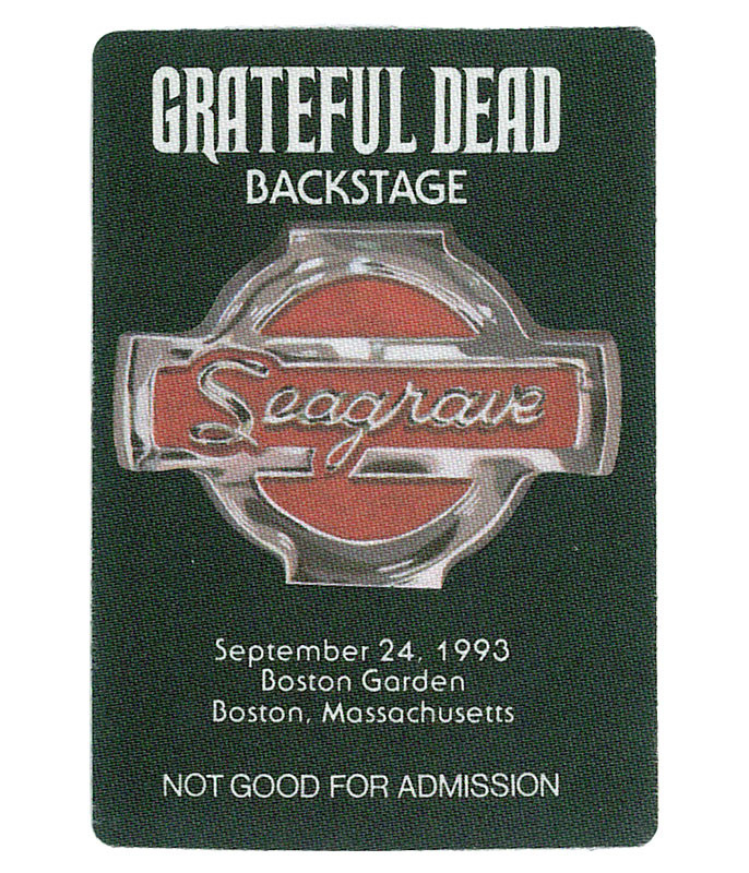 GRATEFUL DEAD 1993 09-24 BACKSTAGE PASS