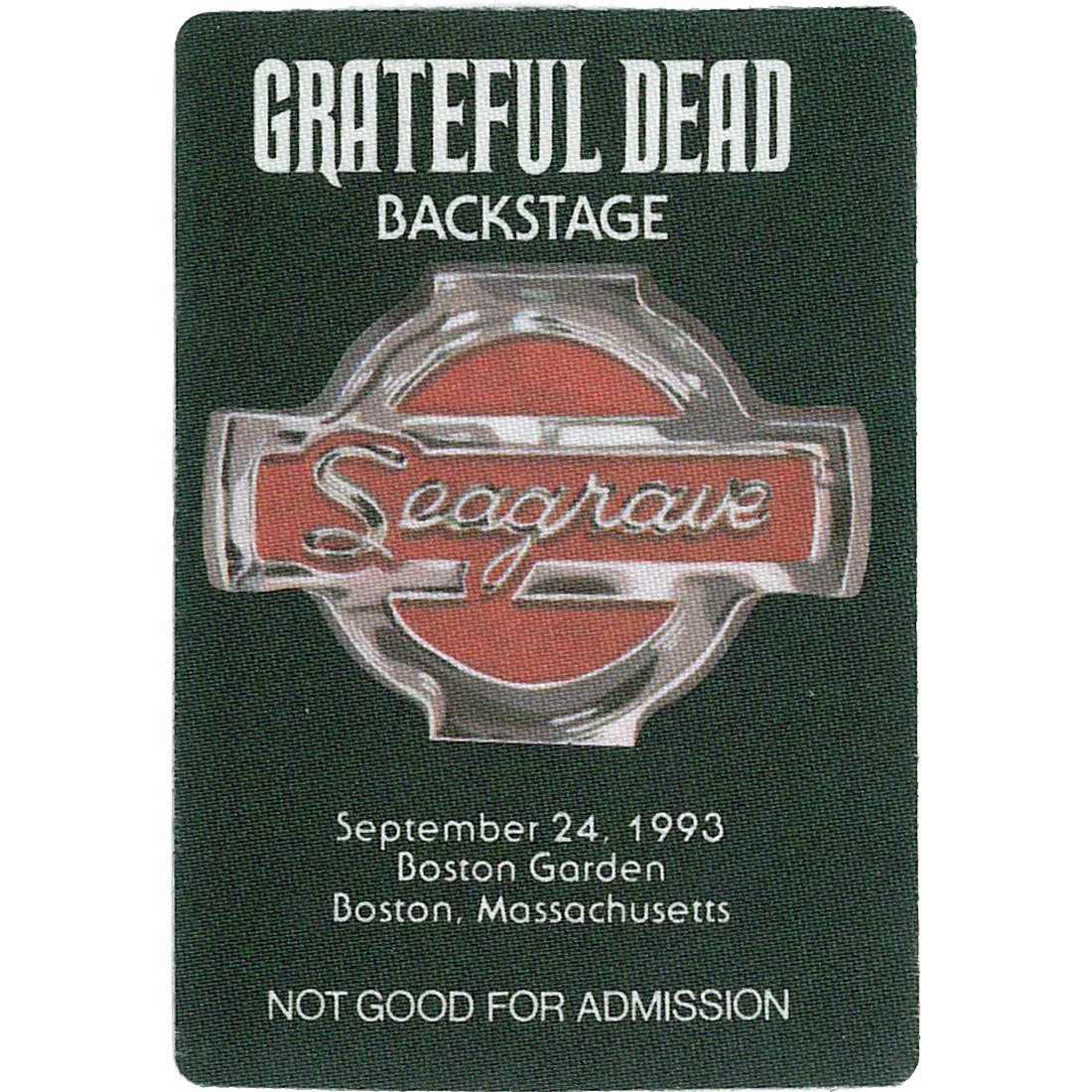 Grateful Dead 1993 09-24 Backstage Pass