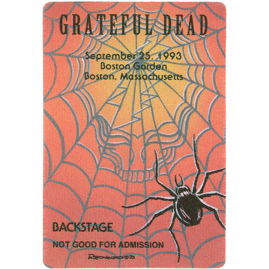 Grateful Dead 1993 09-25 Backstage Pass