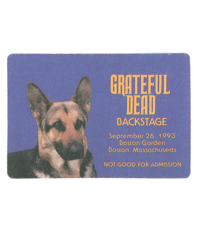 GRATEFUL DEAD 1993 09-26 BACKSTAGE PASS