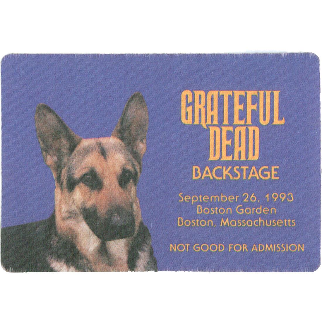 Grateful Dead 1993 09-26 Backstage Pass