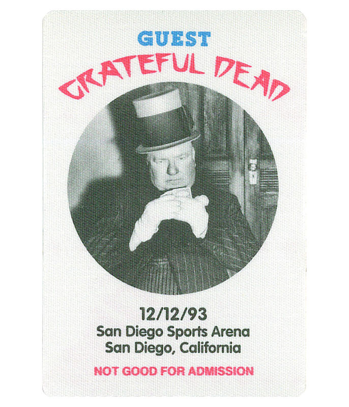 GRATEFUL DEAD 1993 12-12 BACKSTAGE PASS