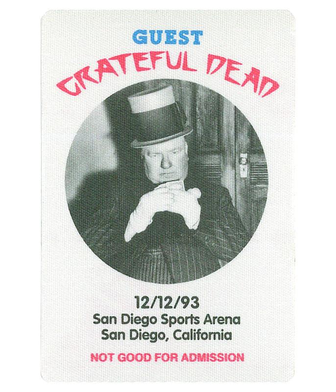 The Vault Grateful Dead 1993 12-12 Backstage Pass Liquid Blue