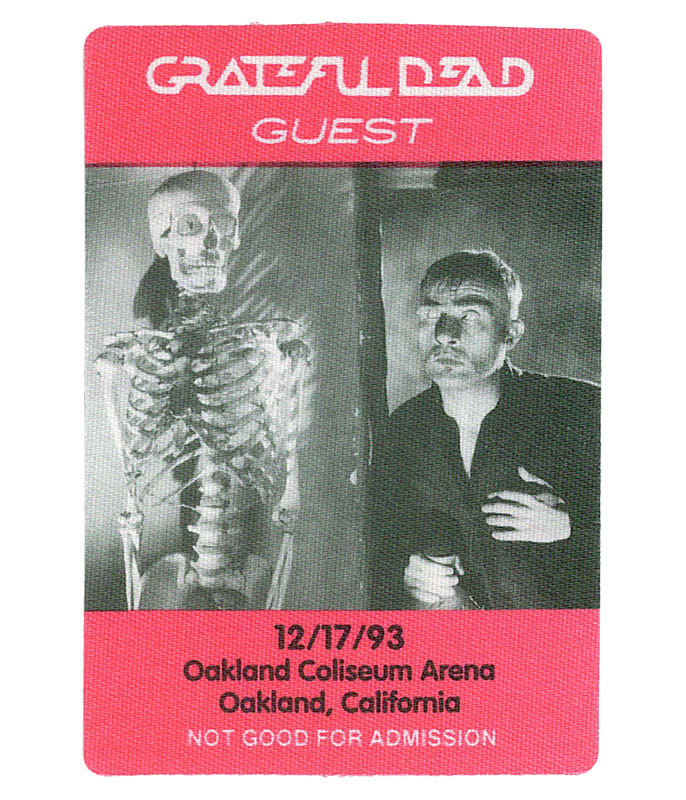GRATEFUL DEAD 1993 12-17 BACKSTAGE PASS