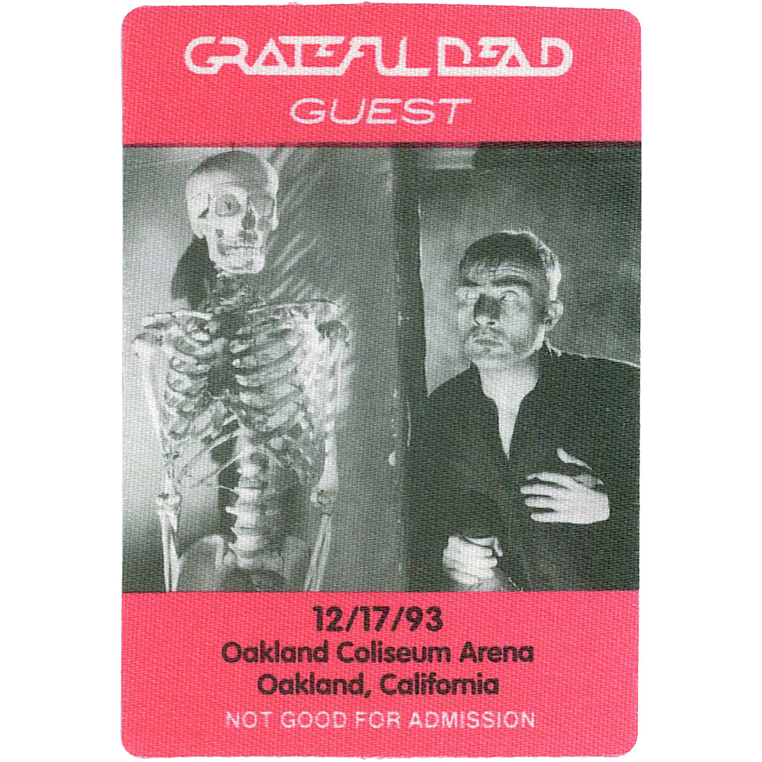 Grateful Dead 1993 12-17 Backstage Pass