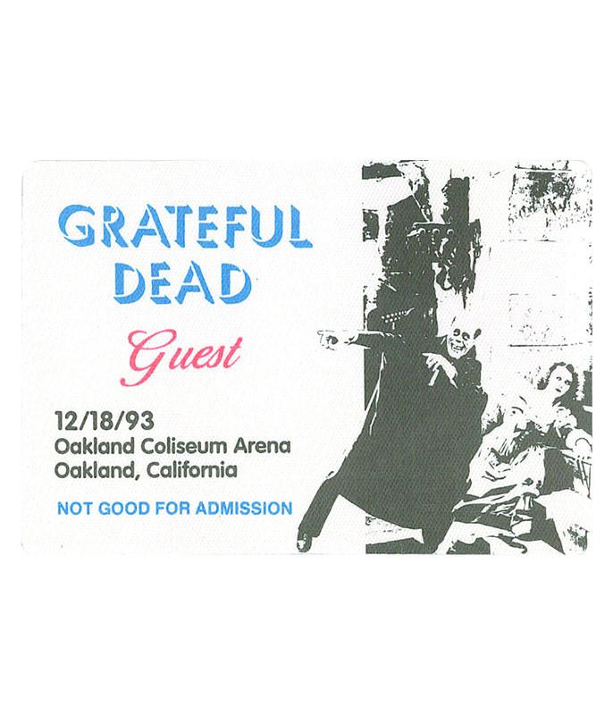 GRATEFUL DEAD 1993 12-18 BACKSTAGE PASS