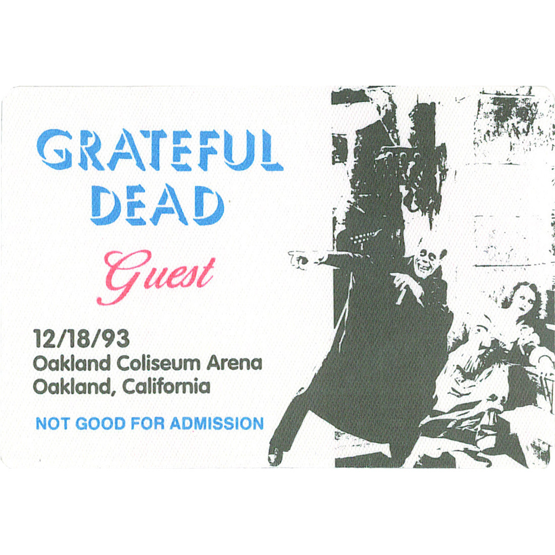 Grateful Dead 1993 12-18 Backstage Pass