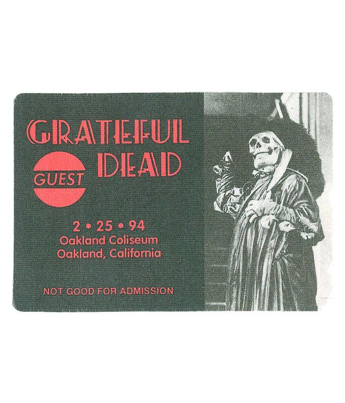 The Vault Grateful Dead 1994 02-25 Backstage Pass Liquid Blue