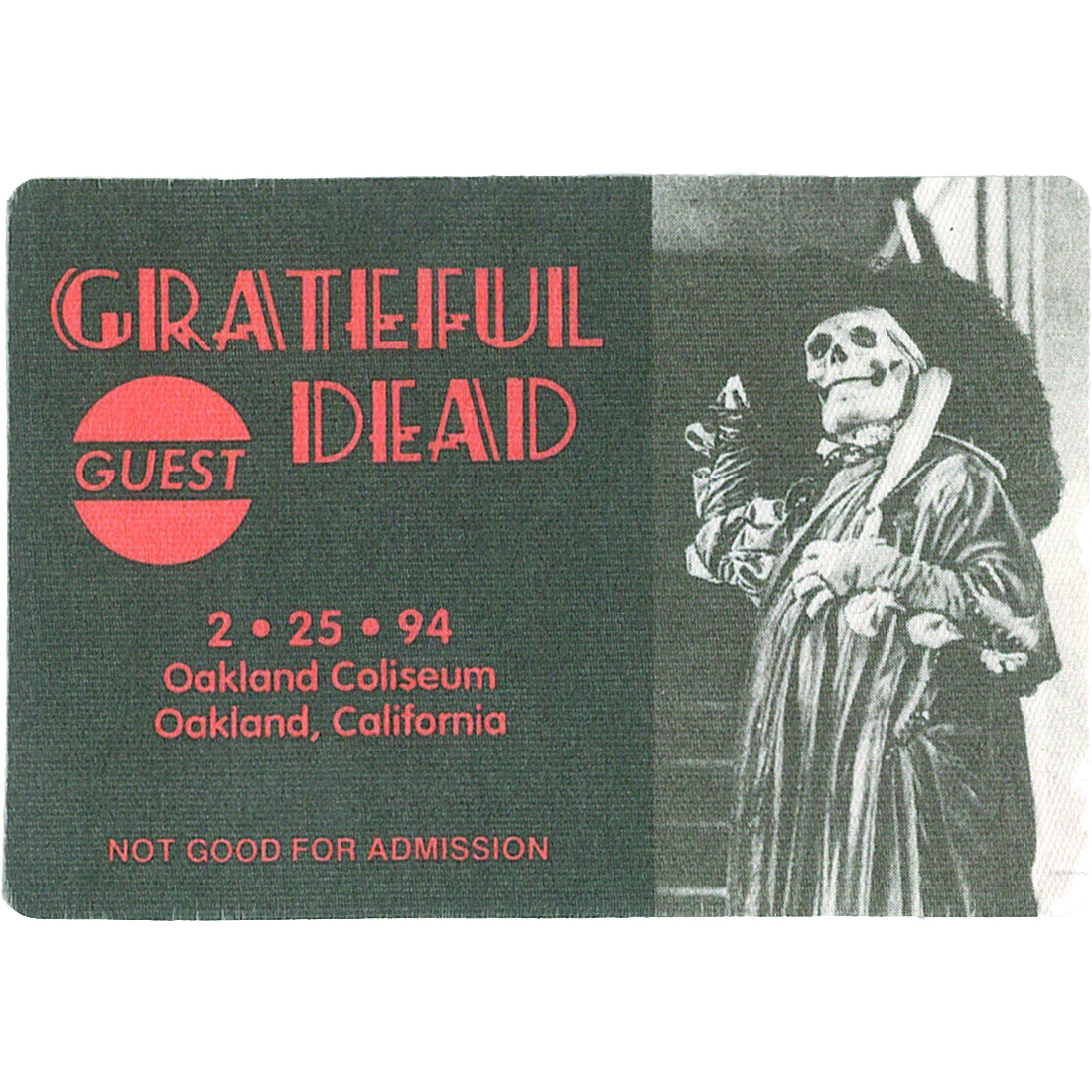 Grateful Dead 1994 02-25 Backstage Pass