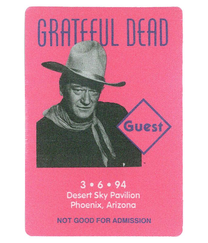 GRATEFUL DEAD 1994 03-06 BACKSTAGE PASS