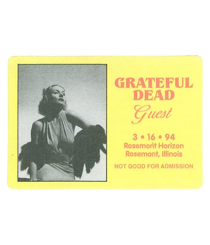 Grateful Dead 1994 03-16 Backstage Pass