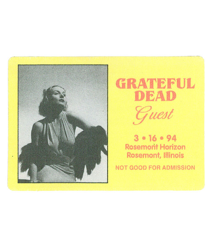 GRATEFUL DEAD 1994 03-16 BACKSTAGE PASS