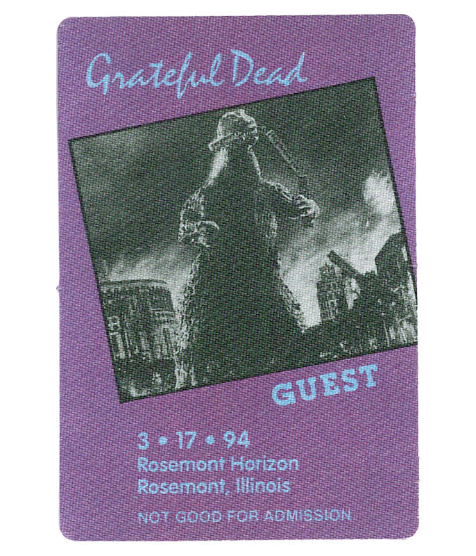 The Vault Grateful Dead 1994 03-17 Backstage Pass Liquid Blue
