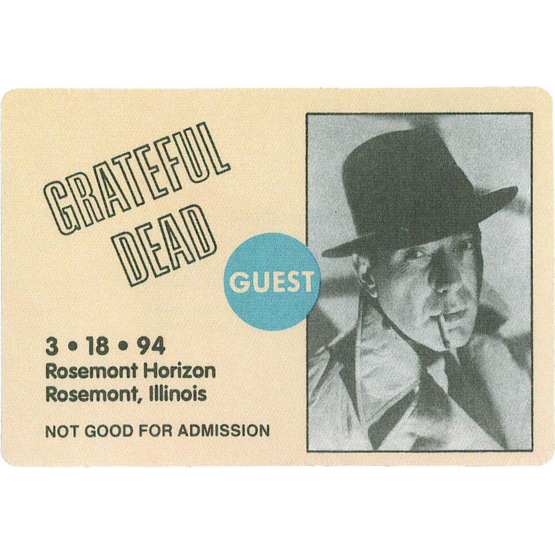 Grateful Dead 1994 03-18 Backstage Pass