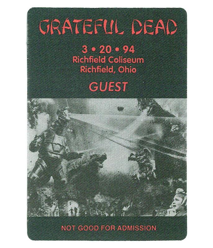 GRATEFUL DEAD 1994 03-20 BACKSTAGE PASS