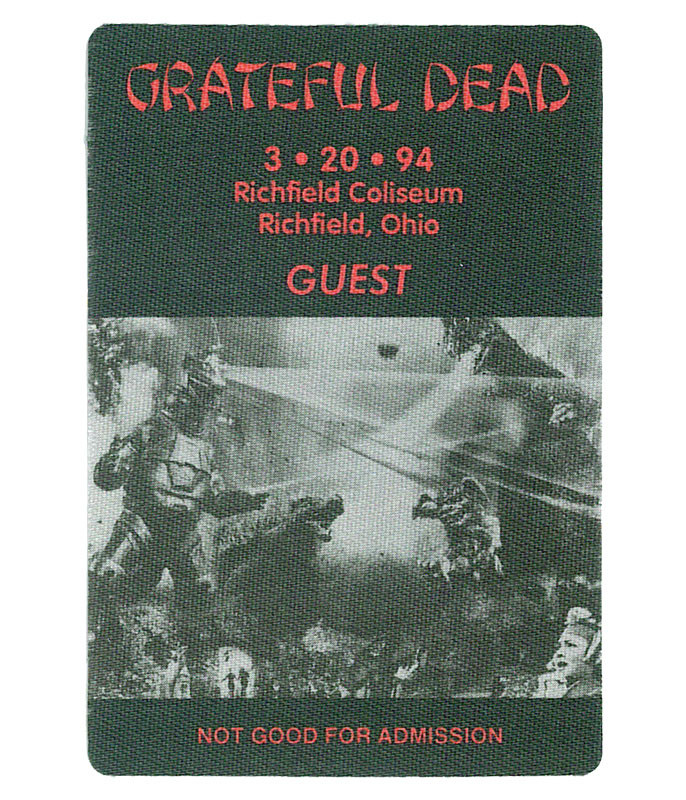 The Vault Grateful Dead 1994 03-20 Backstage Pass Liquid Blue