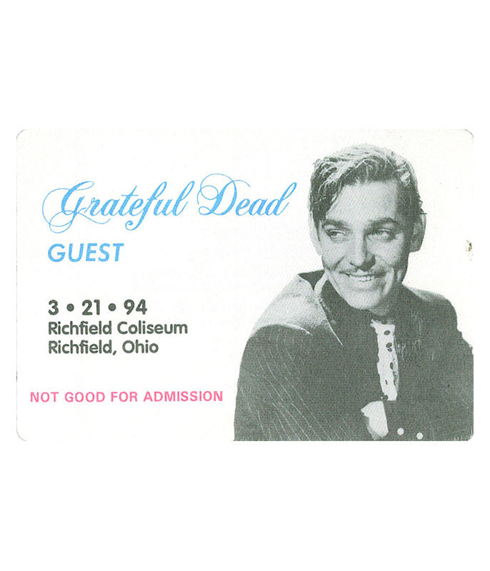 GRATEFUL DEAD 1994 03-21 BACKSTAGE PASS