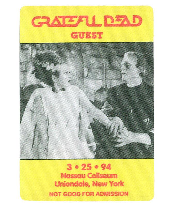 GRATEFUL DEAD 1994 03-25 BACKSTAGE PASS