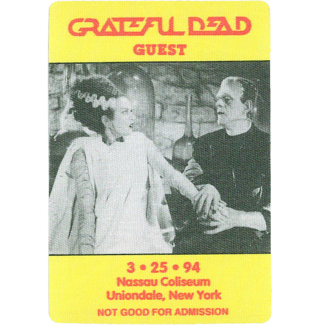 Grateful Dead 1994 03-25 Backstage Pass