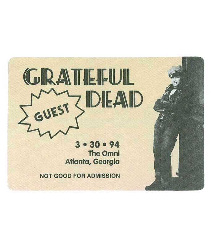 The Vault Grateful Dead 1994 03-30 Backstage Pass Liquid Blue