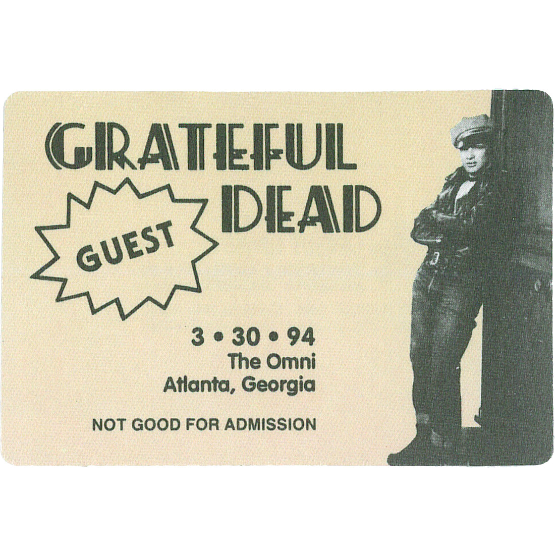 Grateful Dead 1994 03-30 Backstage Pass