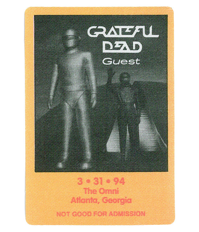 GRATEFUL DEAD 1994 03-31 BACKSTAGE PASS