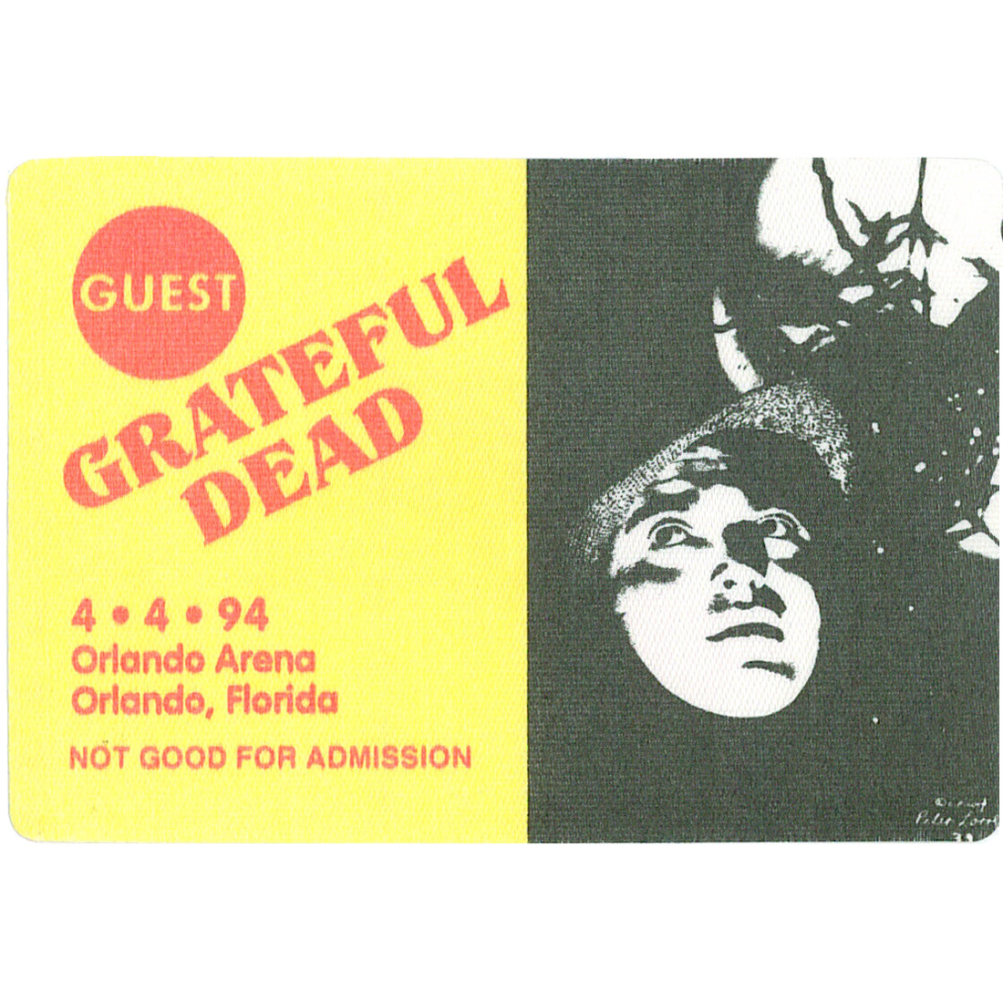 Grateful Dead 1994 04-04 Backstage Pass