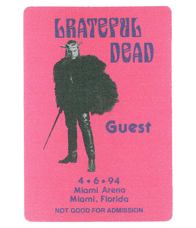 The Vault Grateful Dead 1994 04-06 Backstage Pass Liquid Blue