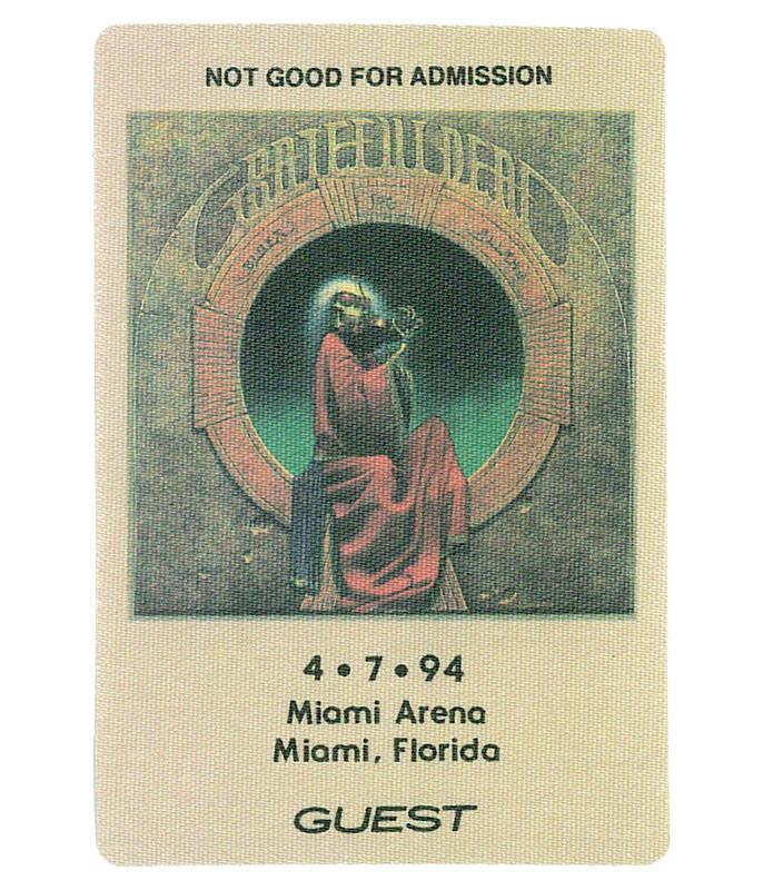 Grateful Dead 1994 04-07 Backstage Pass