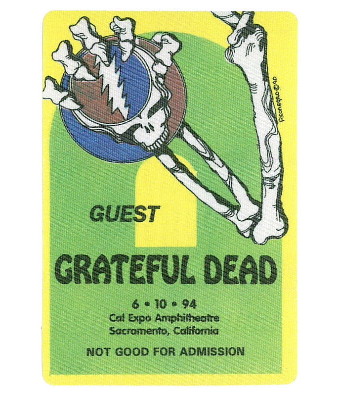 GRATEFUL DEAD 1994 06-10 BACKSTAGE PASS