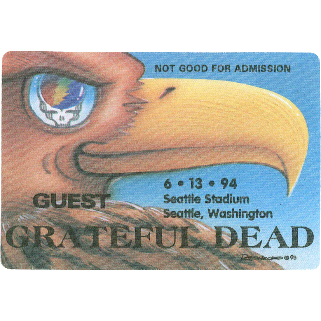 Grateful Dead 1994 06-13 Backstage Pass